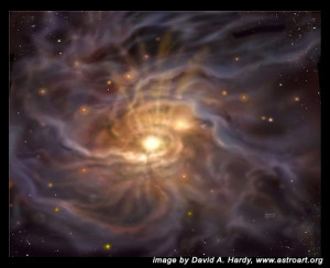 Star birth.David A. Hardy.astroart.org